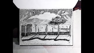 Quidditch Pitch Of Hogwarts -Drawing /Artistic Shiv/Harry Potter World/Time lapse Doodle/ Gadarwara