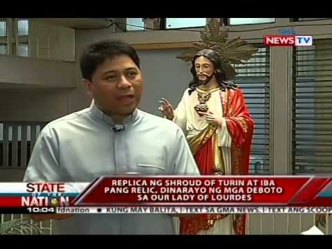 SONA: Replica ng Shroud of Turin at iba pang relic, dinarayo ng mga deboto sa Our Lady of Lourdes
