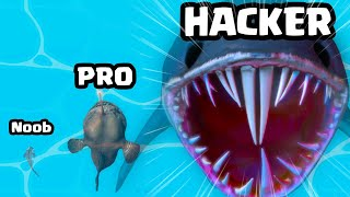 Growing in a BABY FISH to MAX LEVEL SHARK WHALE in Shark UP!