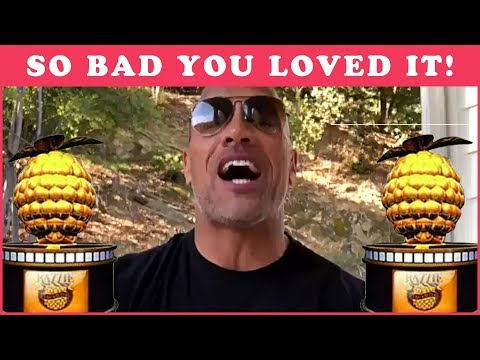 The Rock Accepts His Razzie For Baywatch