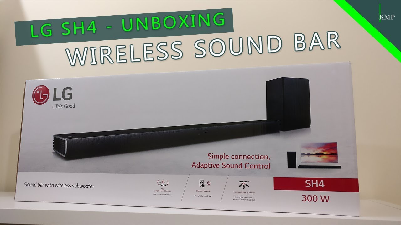 Lg Sh4 Sph5b W Sound Bar And Wireless Subwoofer Kit Unboxing Overview