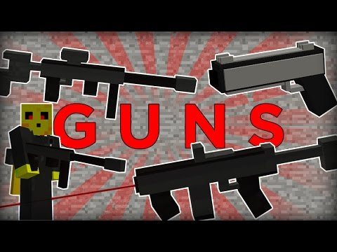 Minecraft Gun Command! Working 3D Machine Gun and Rifle