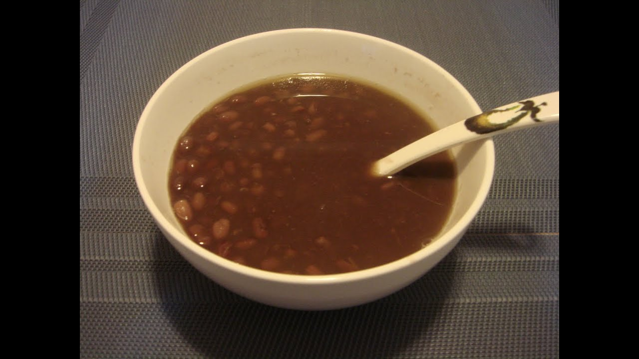 Sweet Red Bean Soup (紅豆沙) - YouTube