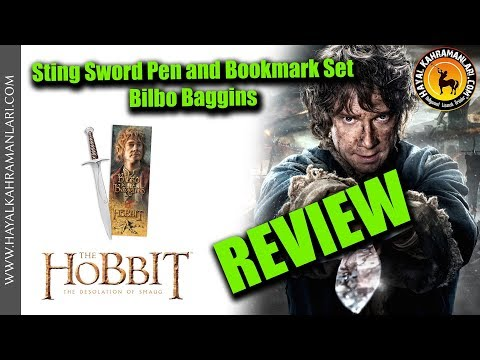 Sting Sword Pen and Bookmark Set - Bilbo Baggins - The Hobbit