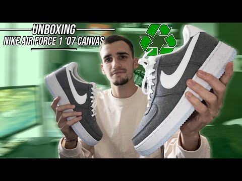 MA PREMIÈRE AIR FORCE 1 RECYCLÉE - unboxing (Air Force 1 '07 Canvas)