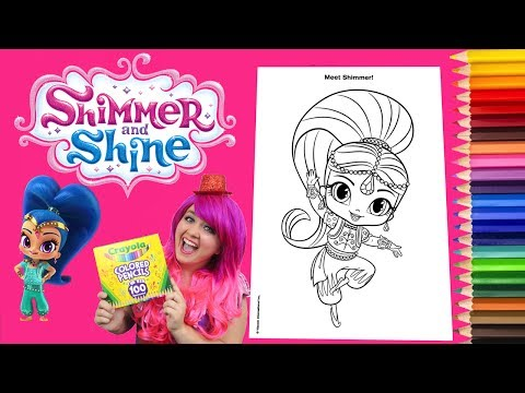 - Coloring Shimmer And Shine Coloring Book Page Crayola Colored Pencils  KiMMi THE CLOWN - YouTube