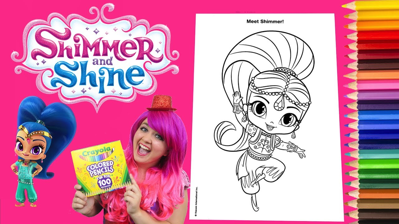 Coloring Shimmer and Shine Coloring Book Page Crayola Colored ...