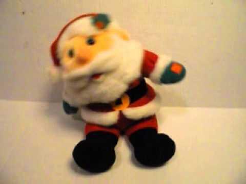 Dillards Swaying Singing Santa Christmas Jingle Bells Plush