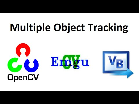 OpenCV 3 Multiple Object Tracking by Image Subtraction Visual Basic full  source code