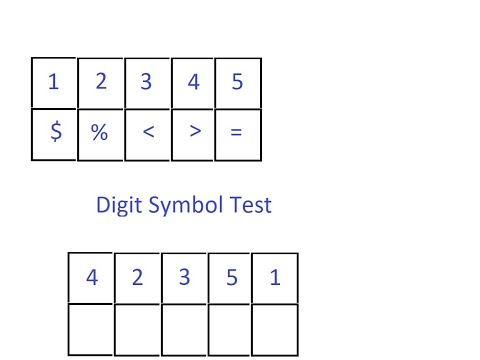 Digit symbol test example
