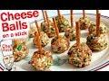 Cheese Ball Recipe on a Stick