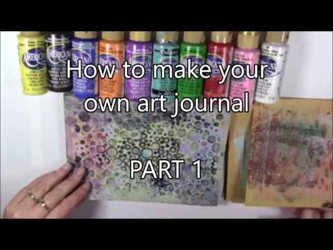 How to make an art journal Part 1 Gelliplating the pages