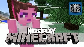 Millie, Geoff, And Griffon Play Minecraft - Kids Play