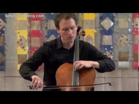 Kodaly Solo Sonata 1/3 - Sebastian Diezig live in concert