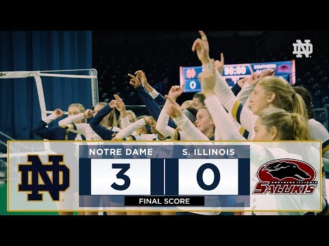 Notre Dame Volleyball Highlights vs. Southern Illinois