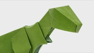 Another version of head for my origami T-Rex Learn how to fold the ...