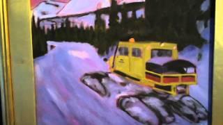 Abstract Tucker Sno-Cat Snowcat Painting