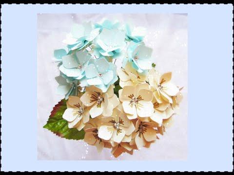 Paper Hydrangeas- DIY Paper Flowers