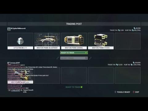Warframe Trading Volt System — Buying Volt Prime Chassis Blueprint