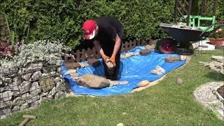 GARDEN 90 - Mini pond in 4 hours! - Jak powstaje oczko wodne w ogrodzie.