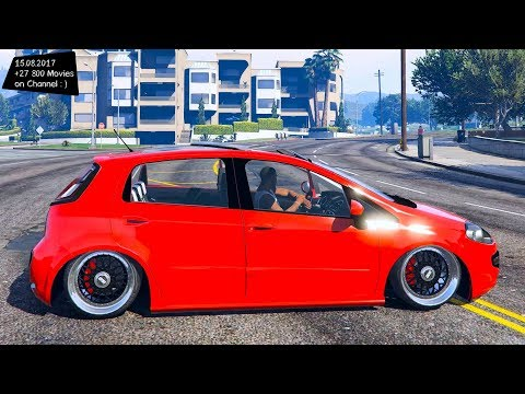 Fiat Punto Rebaixado Com Som E Rodas New ENB Top Speed Test GTA Mod Future
