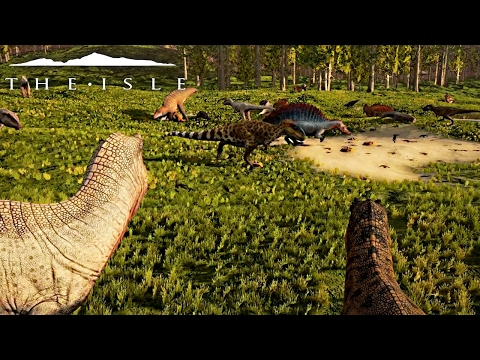 The Isle - BIGGEST REX, SPINO, GIGA APEX PREDATOR PACK EVER, NEW LEVELS OF FRUSTRATION - Gameplay