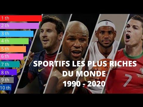 TOP 10: SPORTIFS LES PLUS RICHES DU MONDE | Classement des sportifs les mieux payés de 1990 à 2020