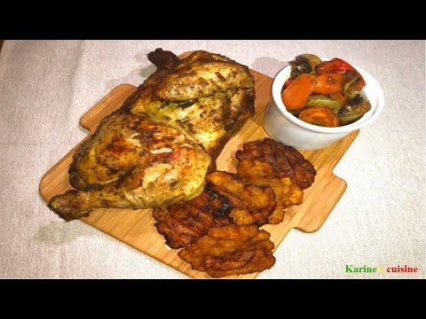 poulet-rôti,-ratatouille,-tapé-tapé-(tostones-plantain)#withme