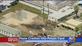 Plane Crashes In Norco Prison Yard, Sparks Fire