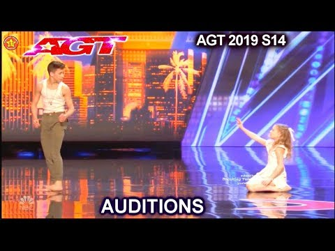 Izzy And Easton Contemporary Dance Duo AWESOME | America's Got Talent 2019 Audition