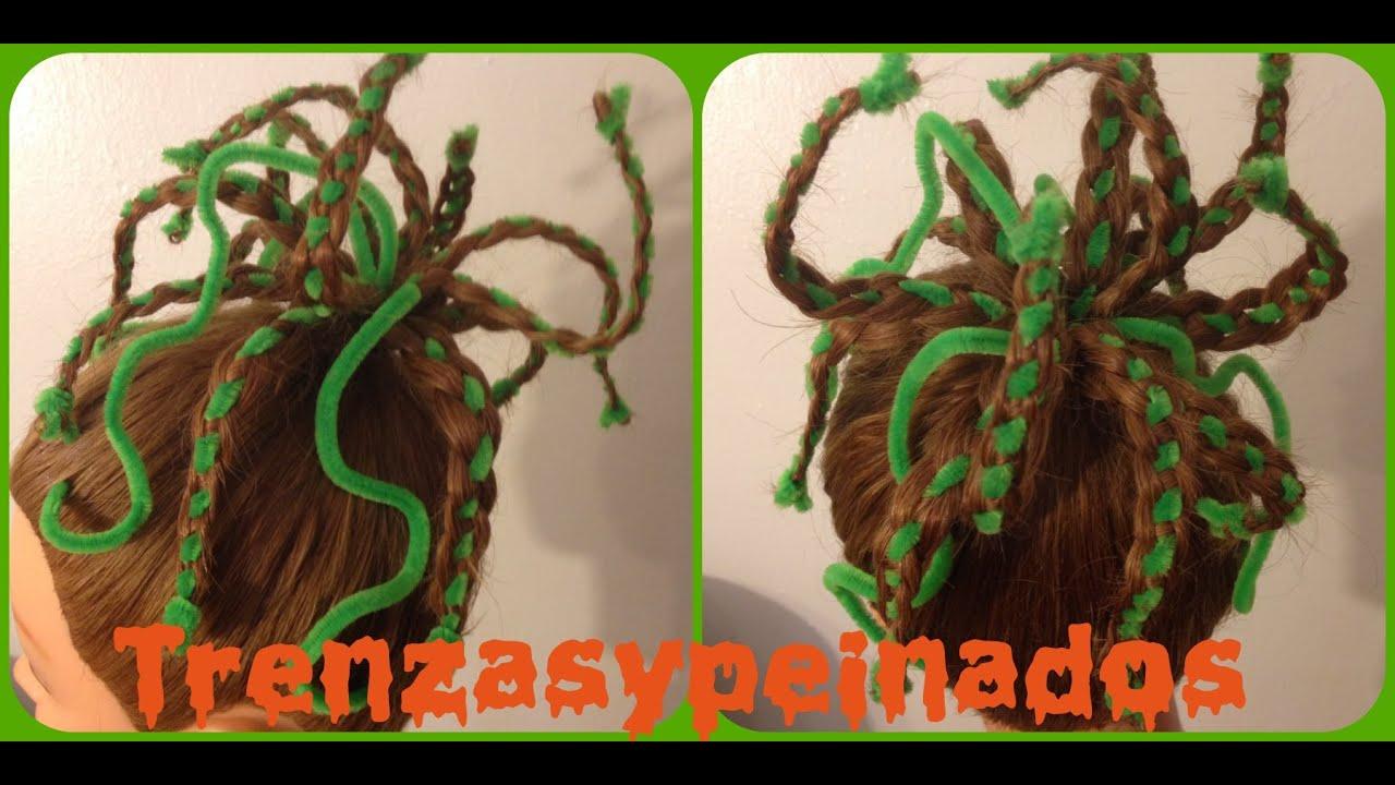 Peinado para halloween medusa halloween hairstyle medusa - Peinados para ninas faciles de hacer ...