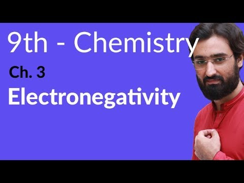 Electronegativity - Chemistry Chapter 3 Periodic Table & Periodicity of Properties - 9th Class