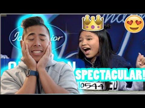 (REACTION!) Suara Anneth Bisa Mendapatkan Golden Tiket! -AUDITION 1 - Indonesian Idol Junior 2018