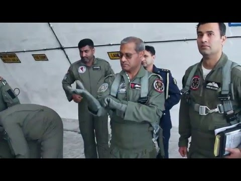 PAF Chief Leading the Fly Past on 23 March Pakistan Day Parade