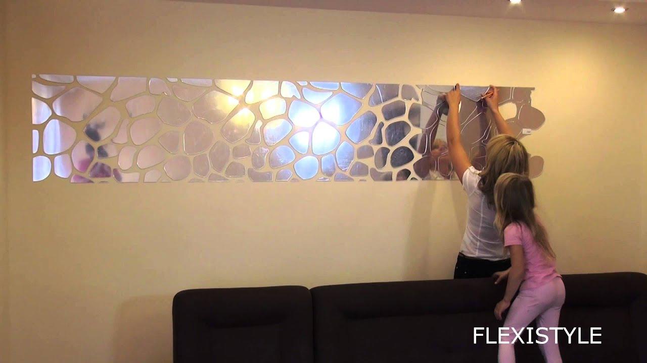 Dove applicare gli adesivi murali ikea; Rivoluzione Sulla Parete Lo Specchio Decorativo Rocks Youtube