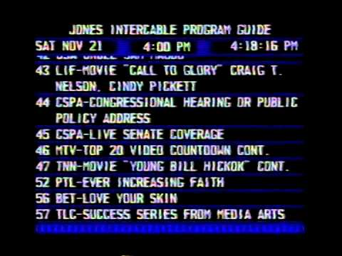 Electronic Program Guide on Jones Intercable in Naperville, IL on 11/21/87