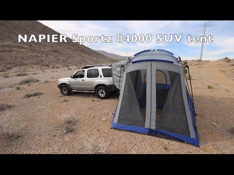 & review and setup demo of the SUV tent by NAPIER outdoors - YouTube