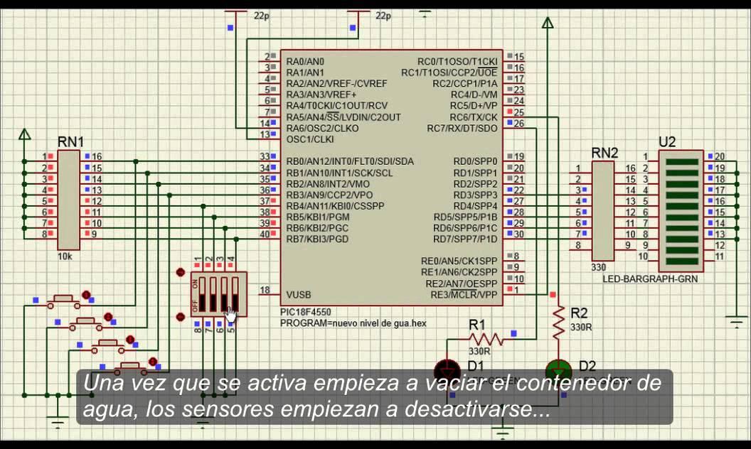 Control de nivel de agua con pic18f4550 youtube for Construccion de piletas de agua