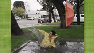 Jumping in giant puddles