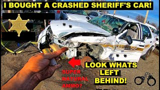 Searching a Crashed Sheriff Police Interceptor   Crown Rick Auto