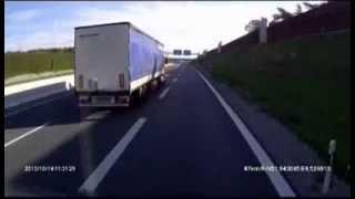 BMW Vollpfosten bremst LKW auf der A 2 aus bei Bielefeld