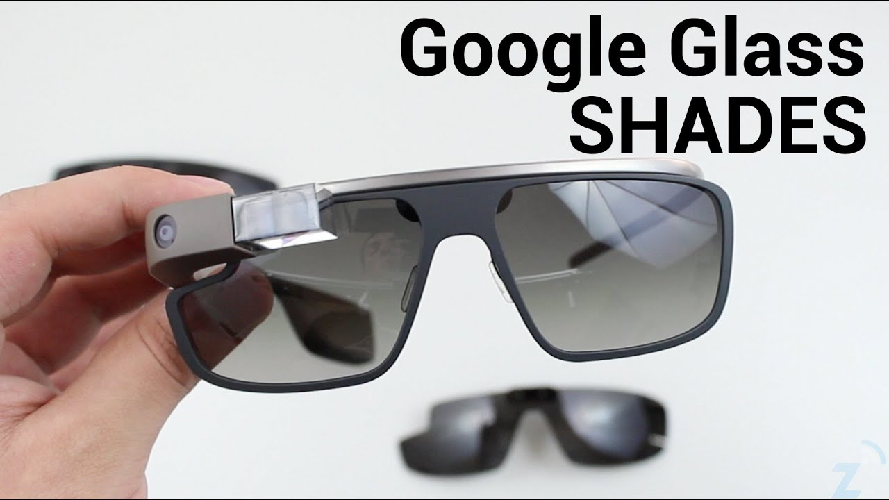 sunglasses on glasses hi8e  Google Glass Classic, Edge, and Active Shades Comparison/Hands On