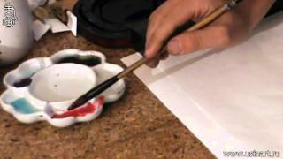 """Уроки по китайской живописи дикая орхидеи 兰花  Урок 4 """" Общее в рисование травы и живописи орхидеи"""""""