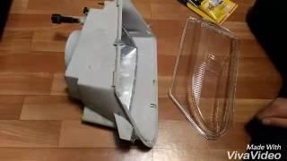 Замена стекла на фару ваз