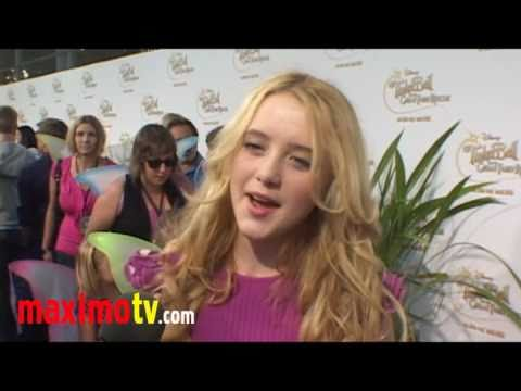 "Kathryn Newton Interview at  ""Tinker Bell And The Great Fairy Rescue"" Premiere"