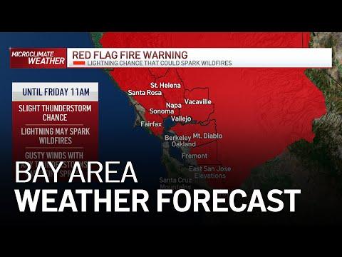 Bay Area Forecast: Lightning Chance Increases Fire Danger