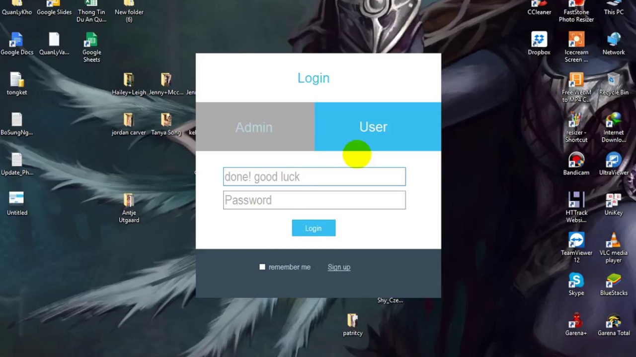 login form design winform c