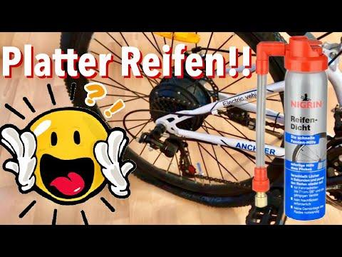 fahrrad plattfu schnell reparieren mit nigrin pannenspray. Black Bedroom Furniture Sets. Home Design Ideas