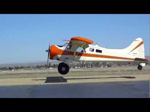 Full Scale deHavilland Beaver Lands at RC Flying Field!!!!!