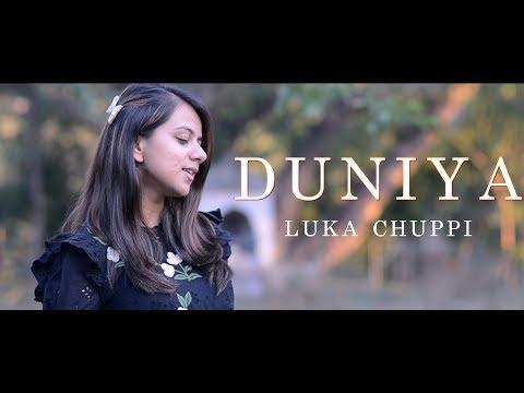 luka-chuppi:-duniyaa-|-kartik-aaryan-kriti-sanon-|-akhil-|-dhvani-|-full-song-(cover)